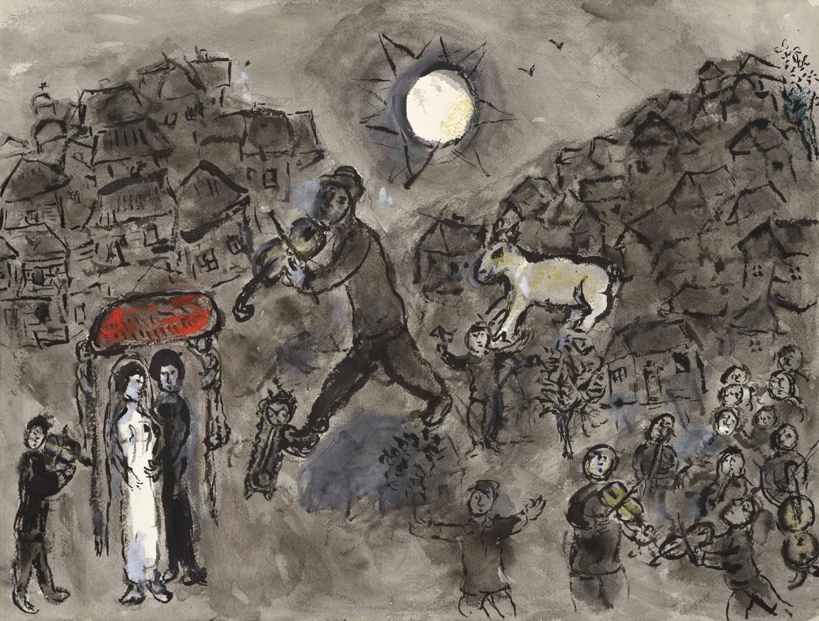 Marc Chagall, Le violiniste du mariage, c.1975