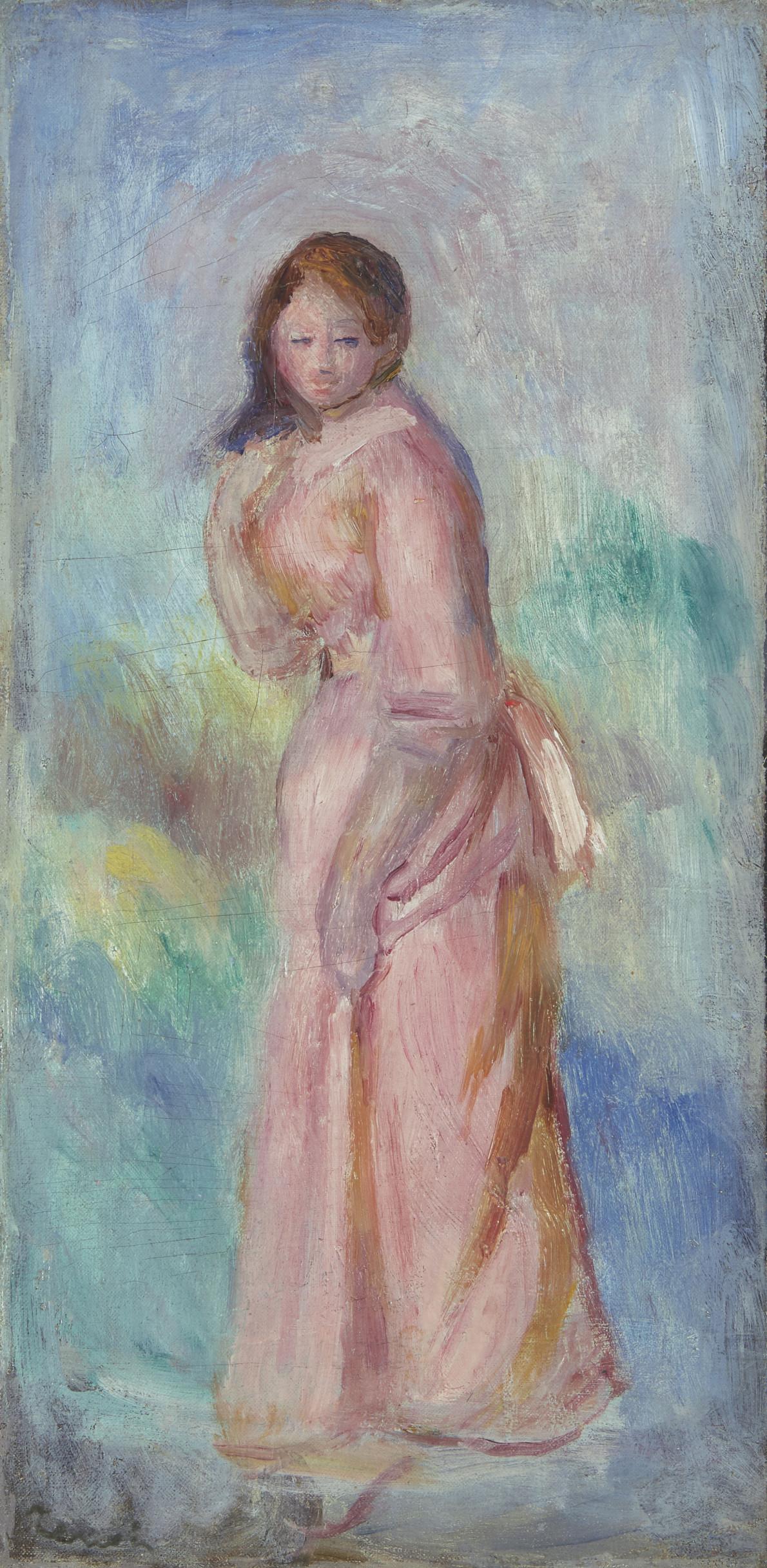 Jeune fille en rose