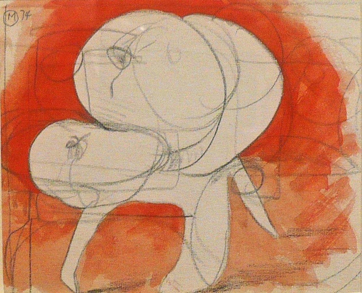 Bernard Meadows, Drawings for Sculpture: Crab Theme 2, 1974
