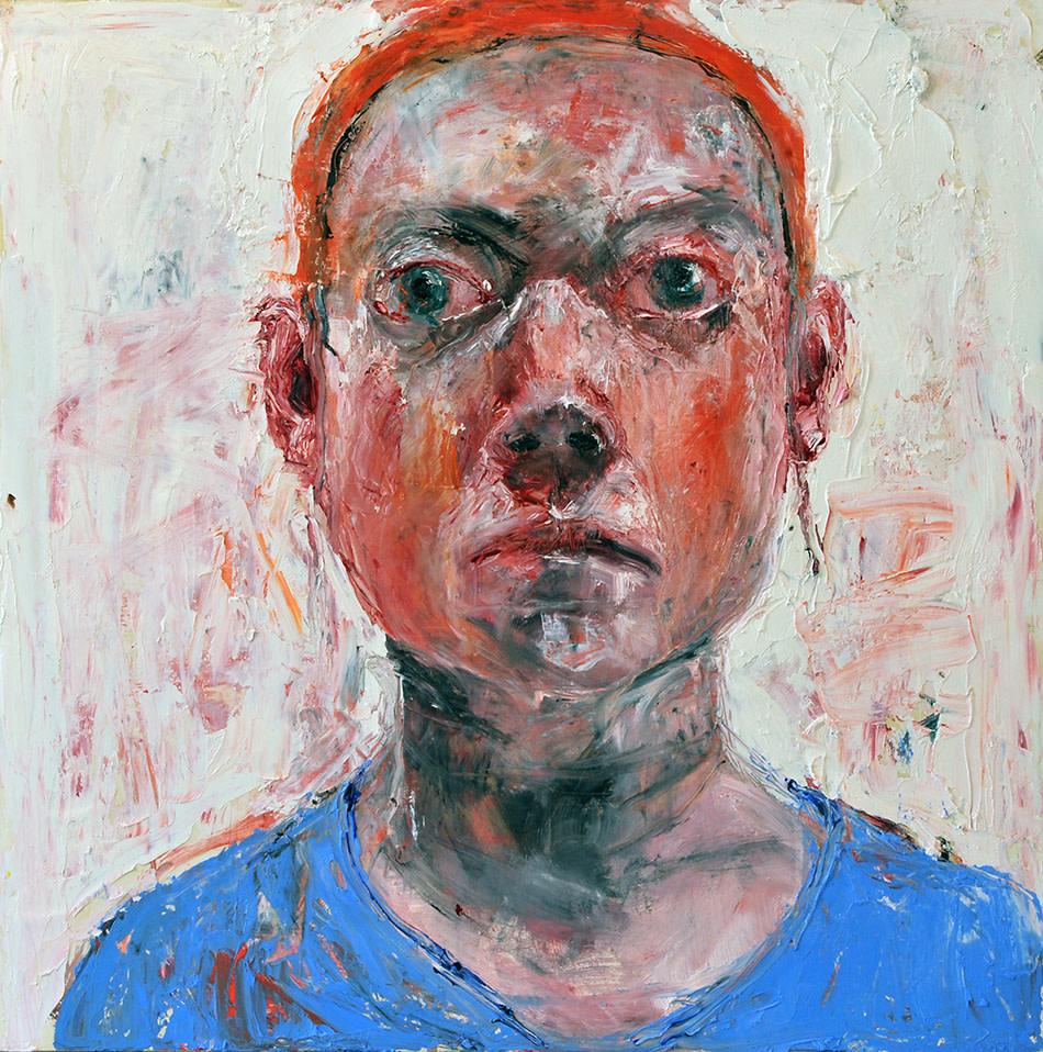Shani Rhys James, Blue Top Orange Hairband, 2017
