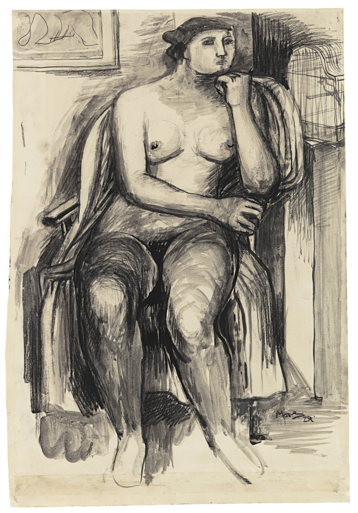 Henry Moore, Seated Female Nude, 1929