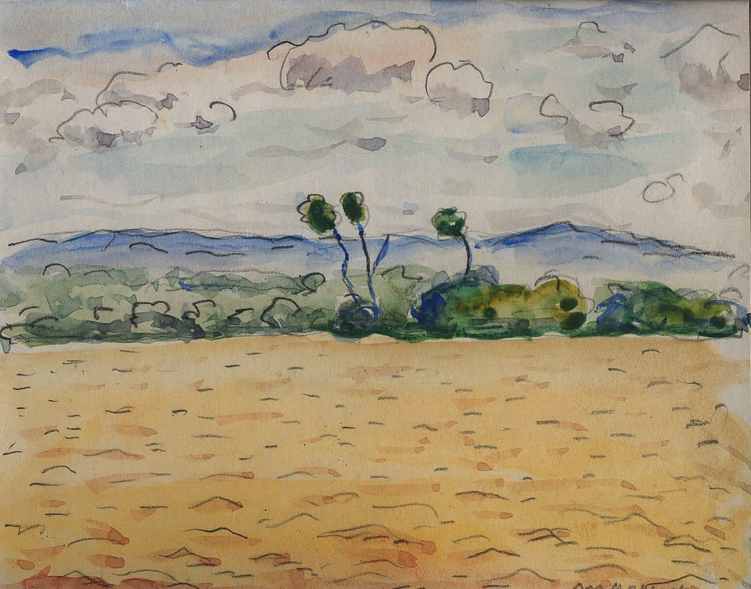 Albert Marquet, Bouleaux dans le vent, Danube, 1933