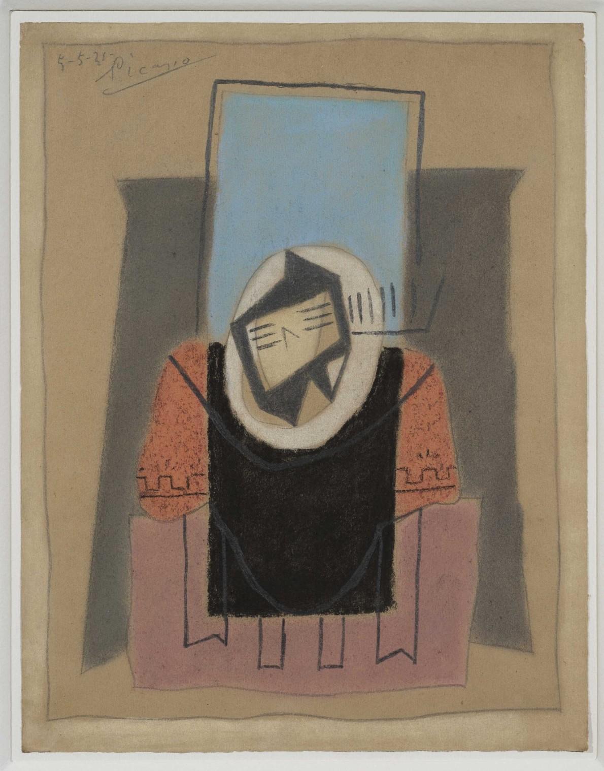 Pablo Picasso, Guitare sur une table, 1921