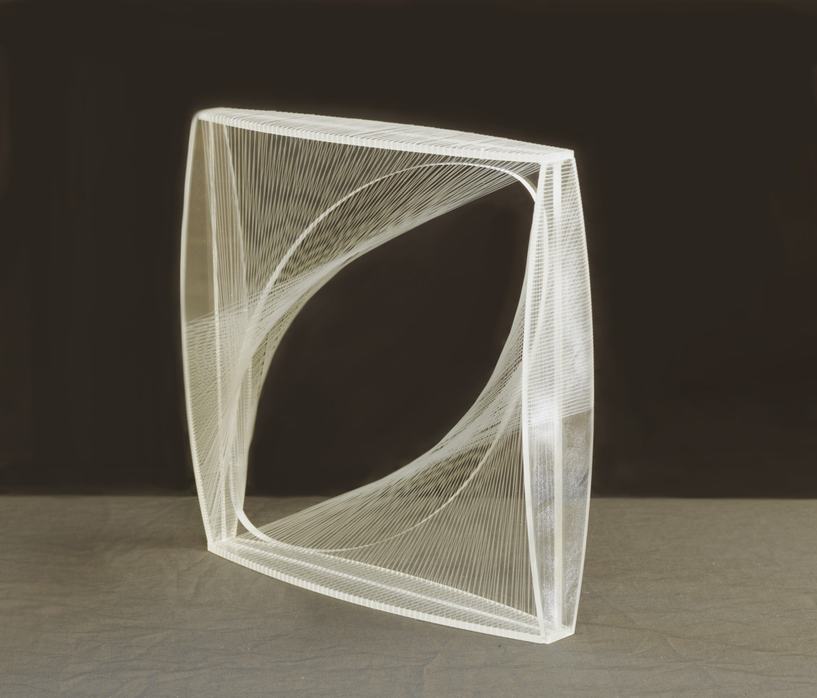 Naum Gabo, Linear Construction in Space No. 1, 1965