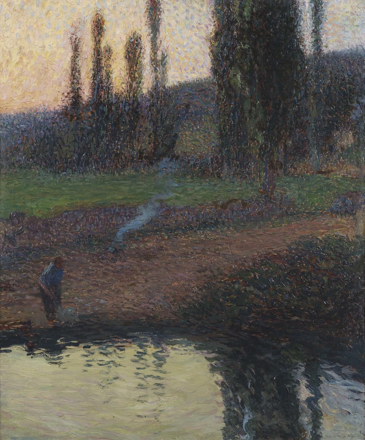 Henri Martin, Femme au Bord d'une Rivière