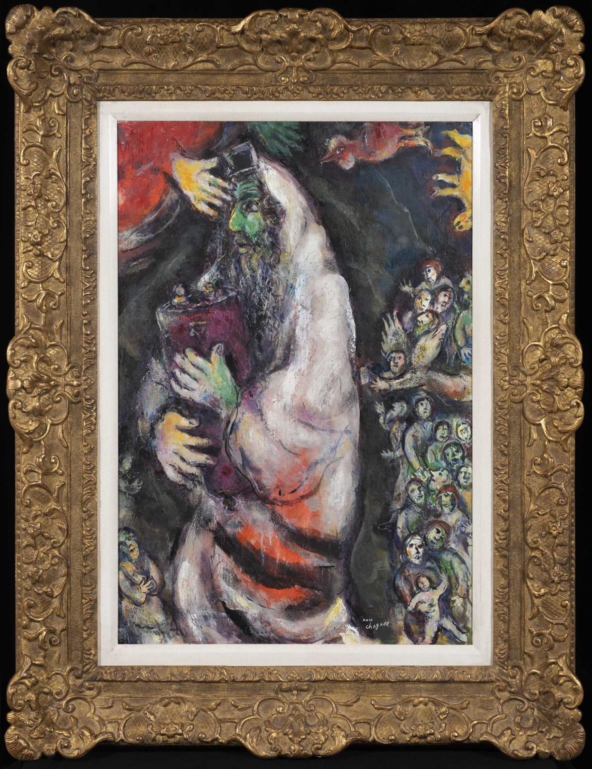 Juif au visage vert avec Thora ou Le prophète et l'ange