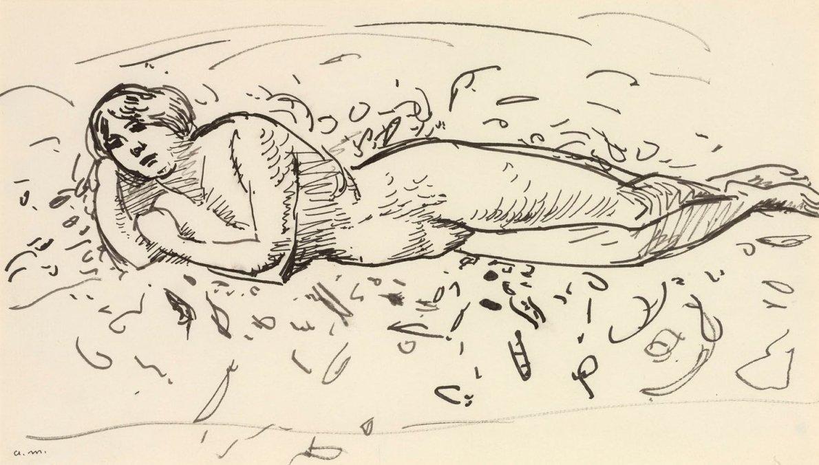 Albert Marquet, Baigneuse allongée, c.1912