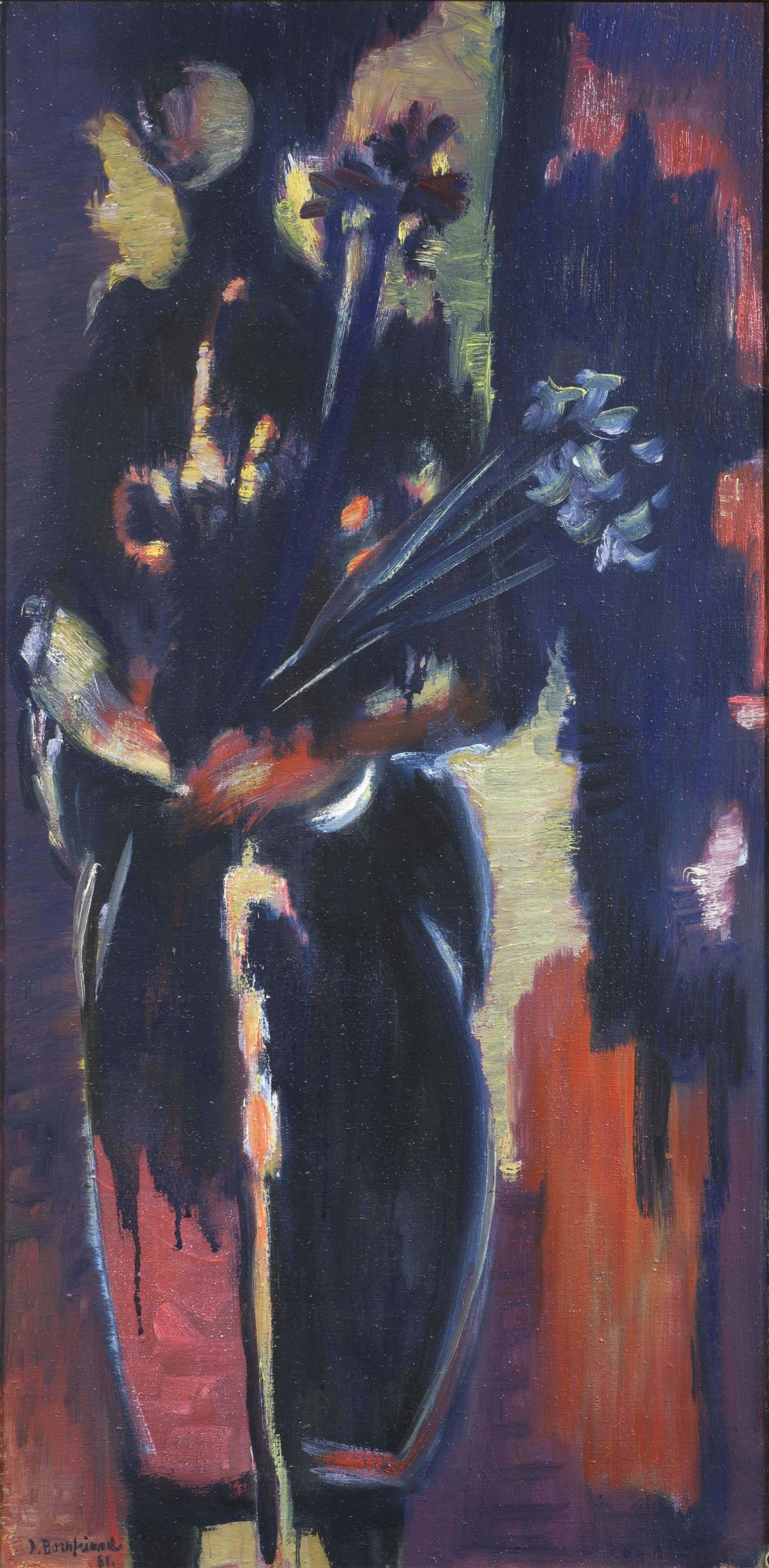 Figure with Irises