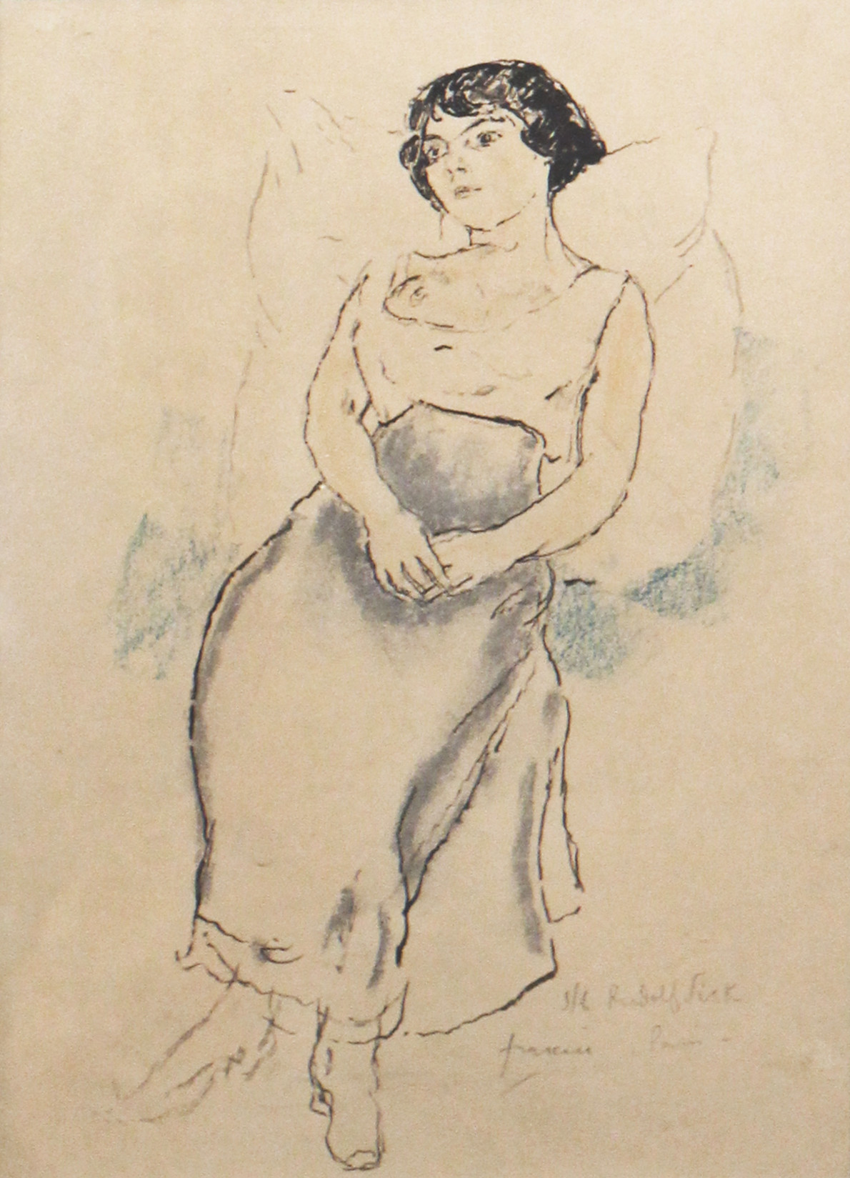 Jules Pascin, Portrait de jeune fille, 1908