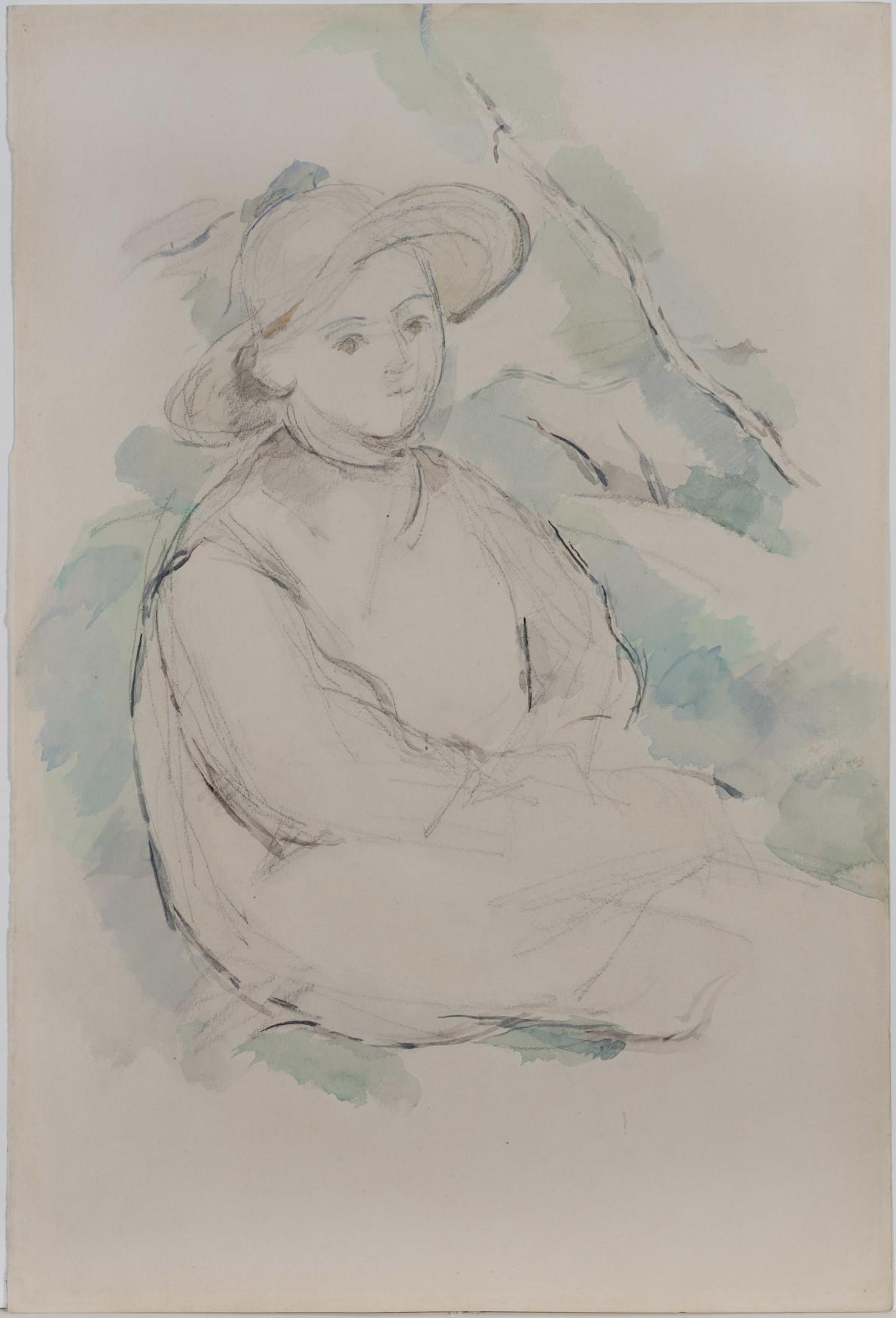 L'Enfant au Chapeau de Paille / Bords du Lac d'Annecy (verso)