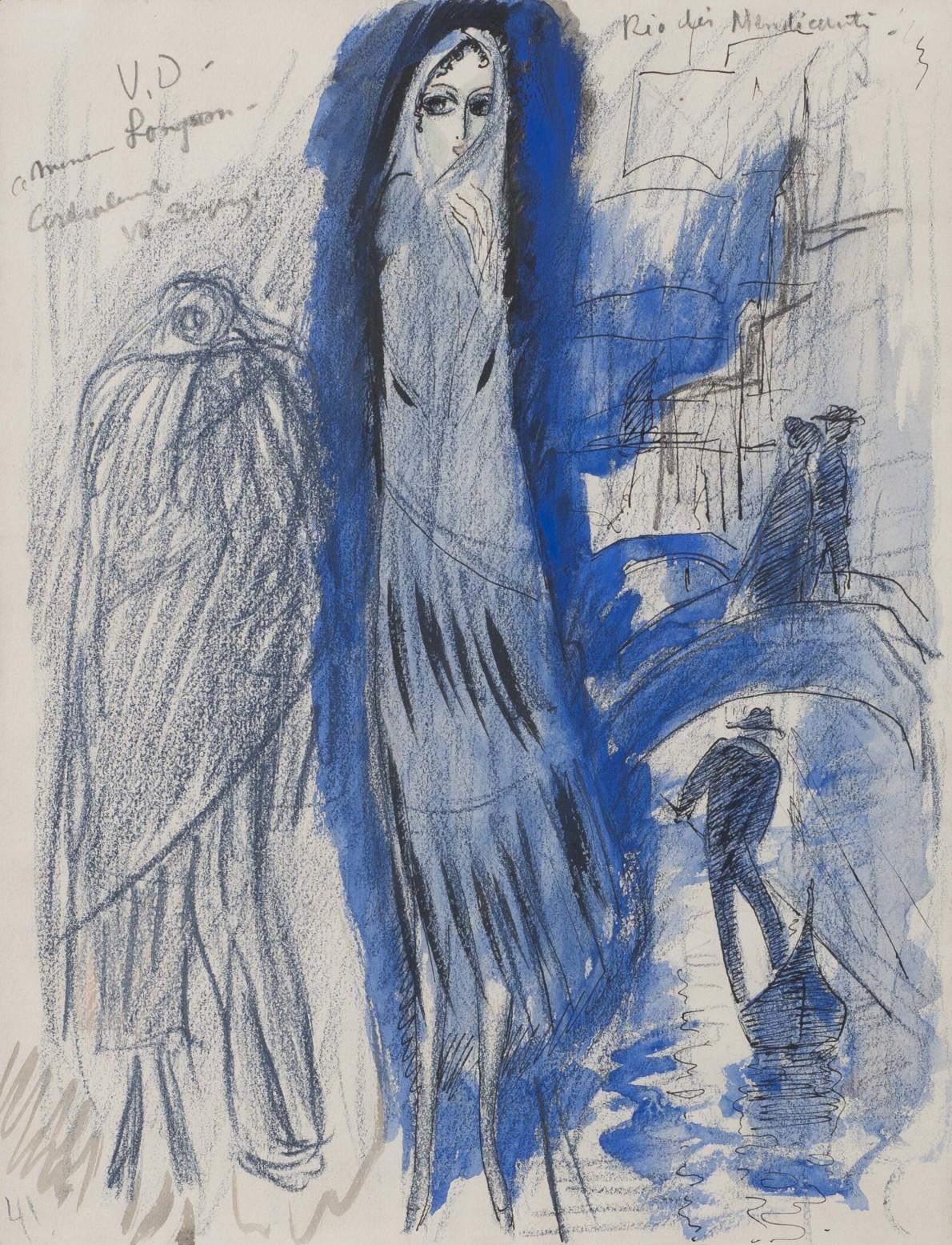 Kees van Dongen, Etude pour 'Rio des Mendiant', 1921