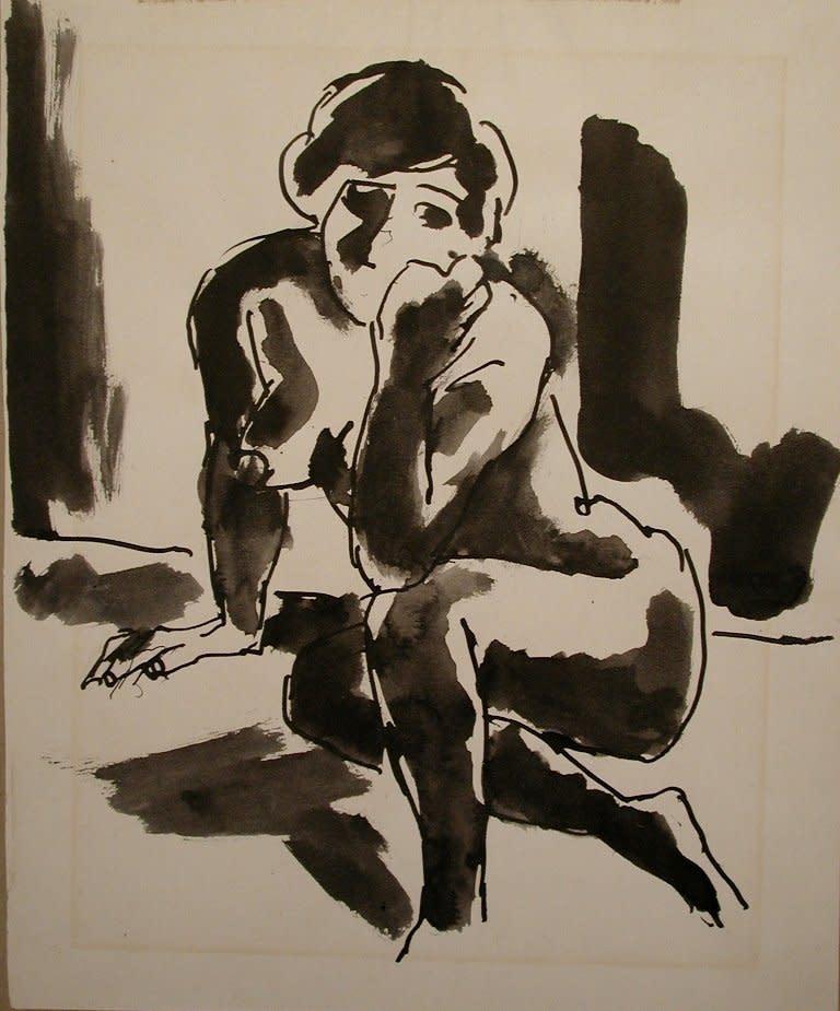 Josef Herman, Nude, 1961