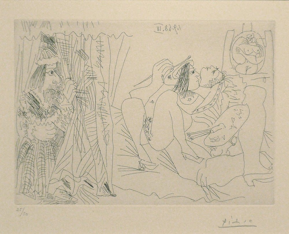 Pablo Picasso, Raphael et la Fornarina: Le Pape Arrive, 1968