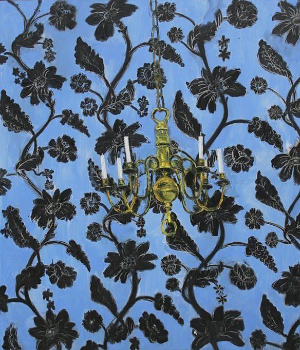 Shani Rhys James, Candelabra on Blue Wallpaper, 2012