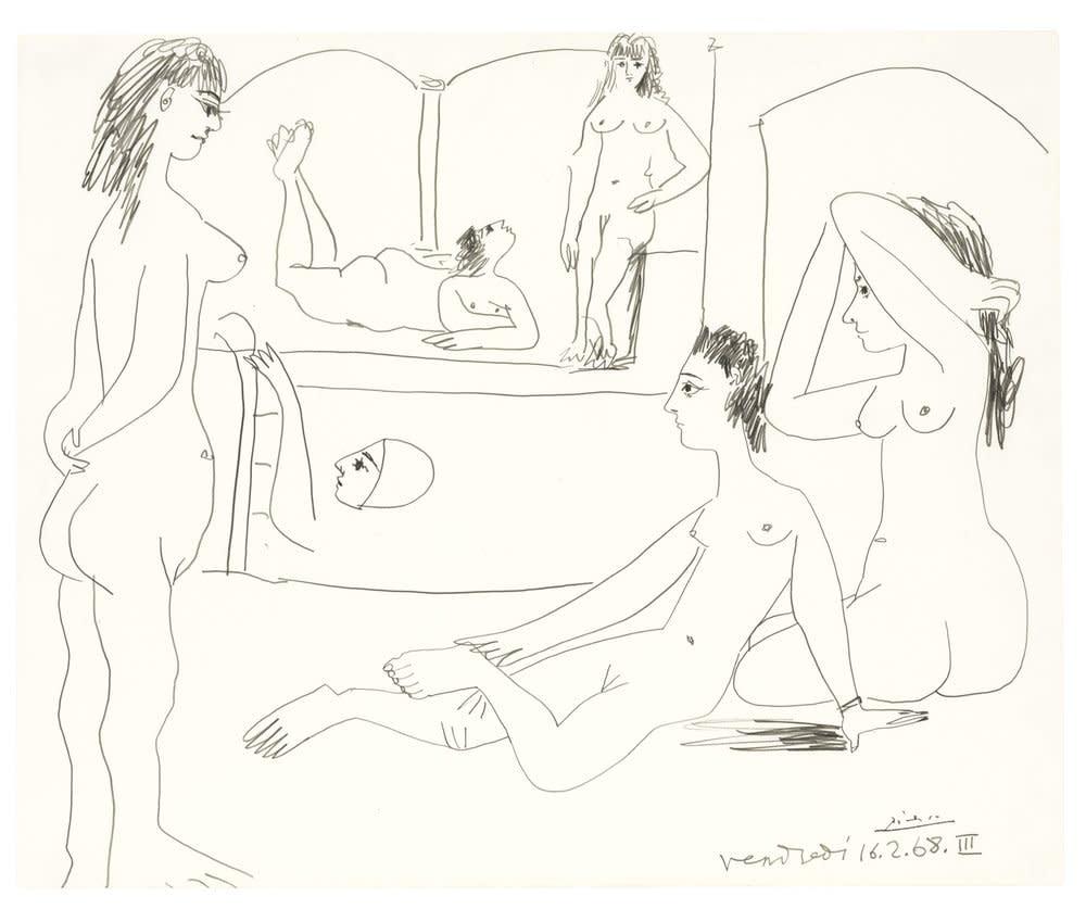 Pablo Picasso, Le Bain, 1968