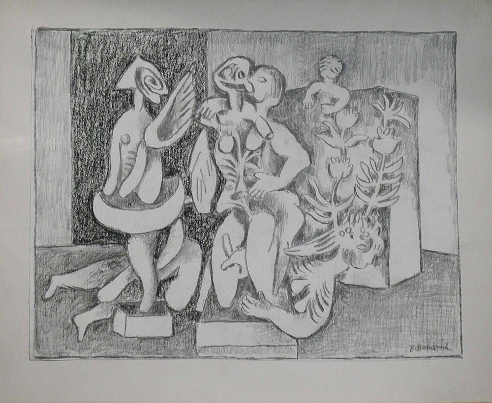 Jacob Bornfriend, Figures in interior