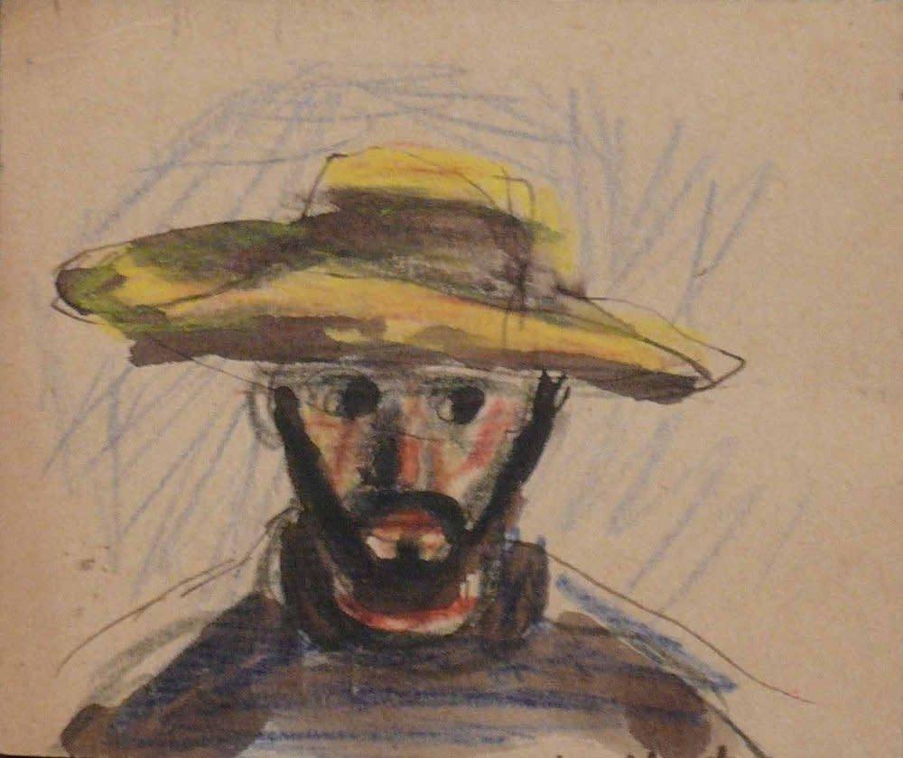 Peter Potworowski, Double-sided portrait, 1948