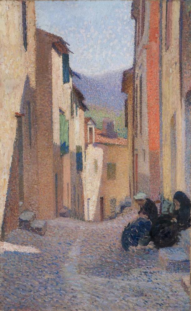 Henri Martin, Rue ensoleillée, après-midi (Collioure), 1923