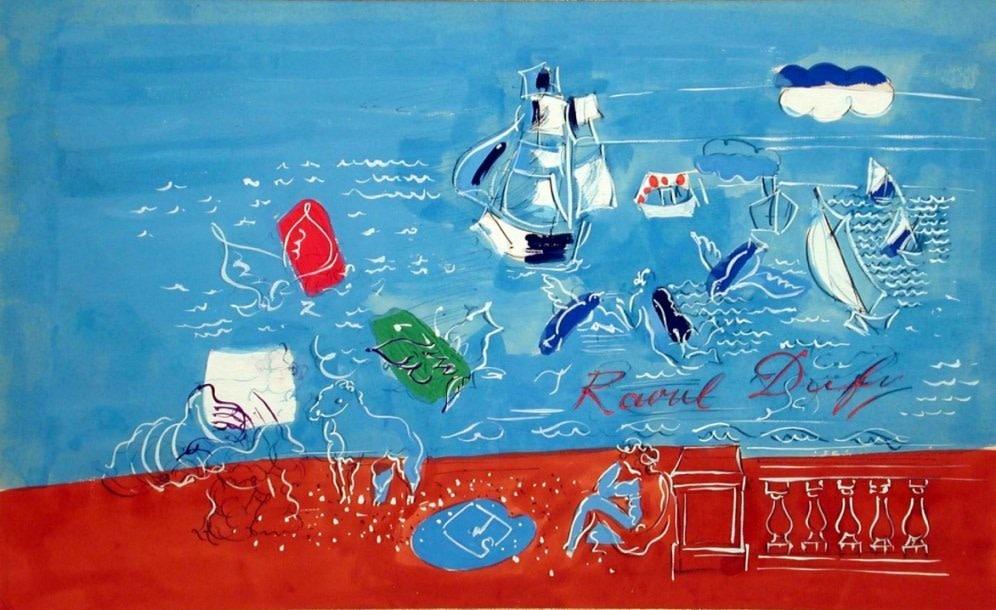 Raoul Dufy, Composition marine, 1935
