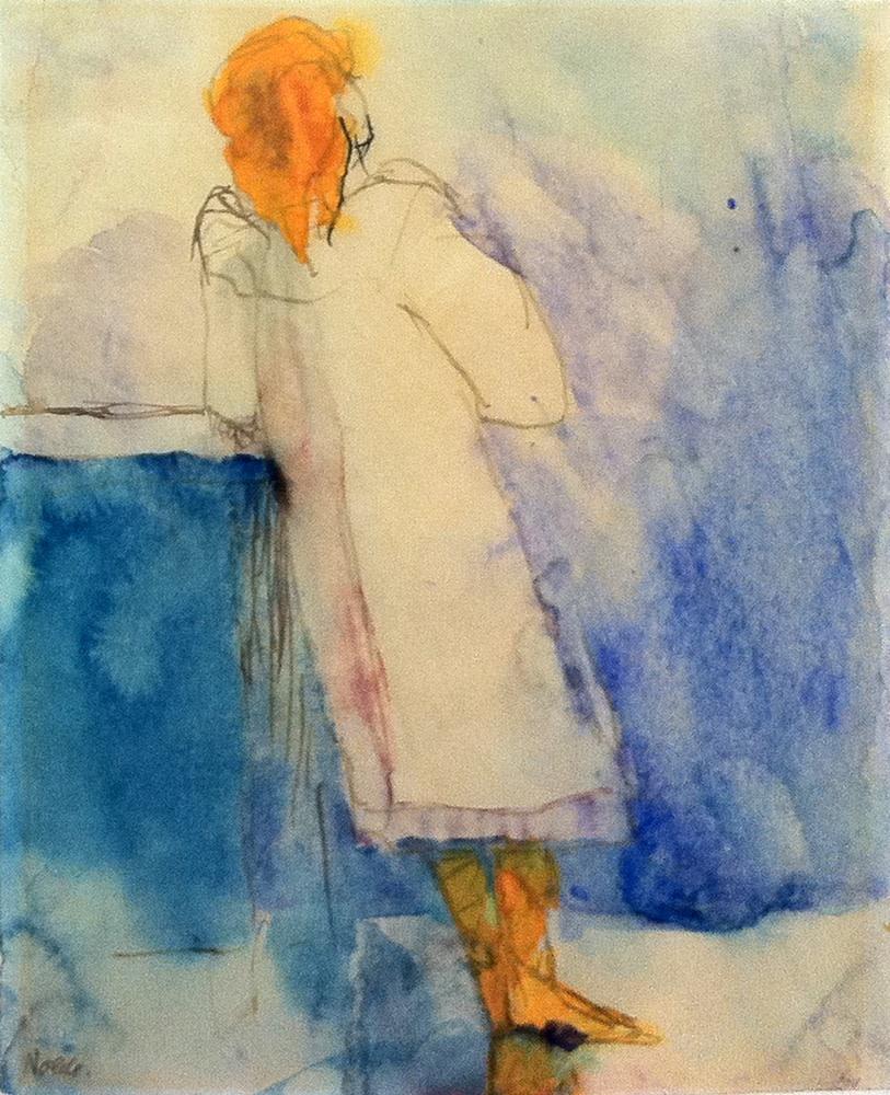 Emil Nolde, Stehendes Mädchen, 1908/10