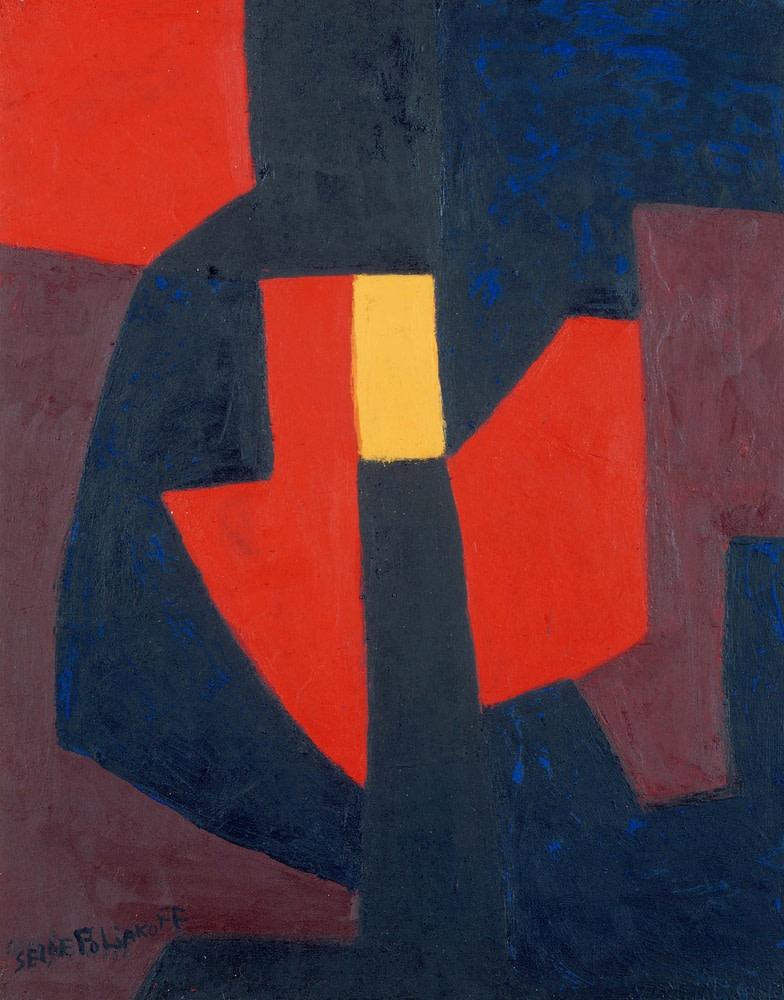 Serge Poliakoff, Composition abstraite, 1961