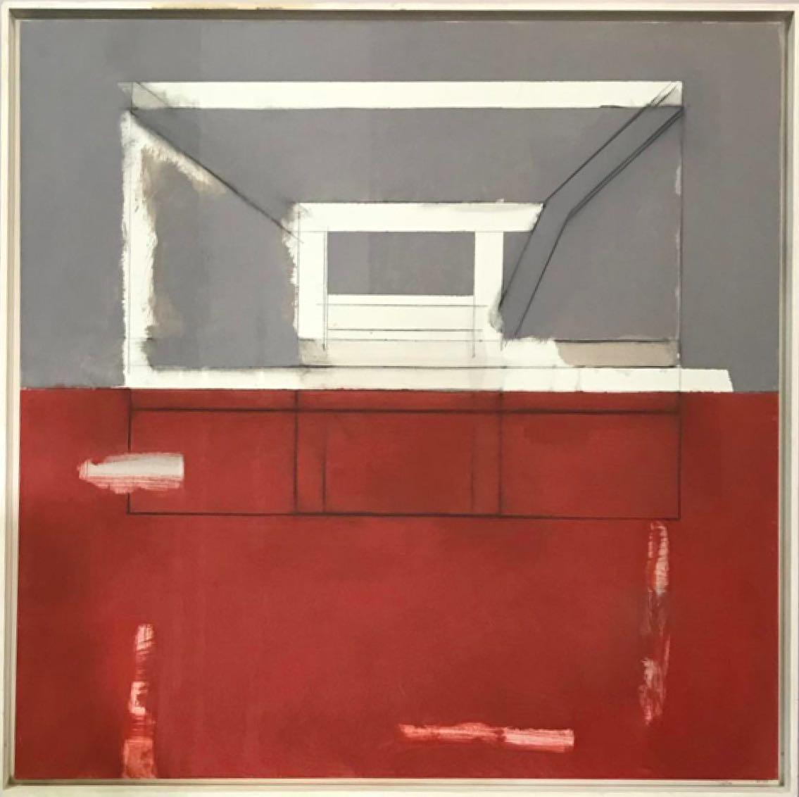 Antonio Freiles ARCHITECTURE, 2009 Oil and graphite on canvas. 100 x 100 cm (39 x 39 in)