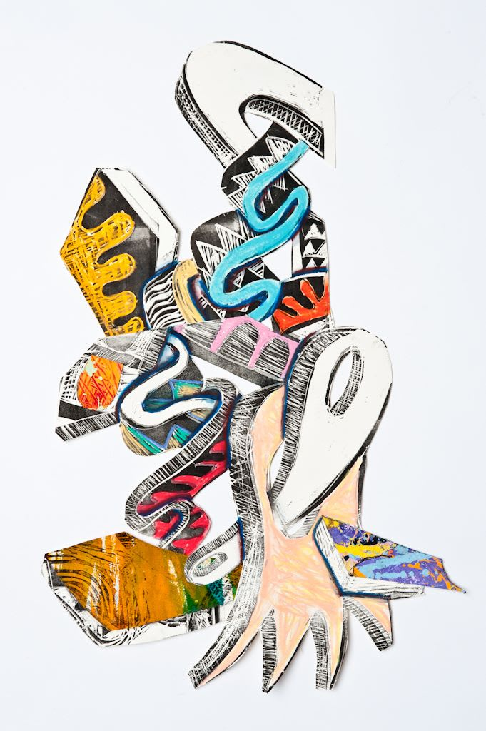 Kevin Cole No Faith Left Behind, 2011.0 Mixed Media on Paper 30 x 37