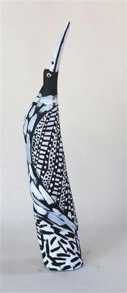 Gerry Mungatopi Tokwampini, the bird natural earth pigment on wood 41 cm