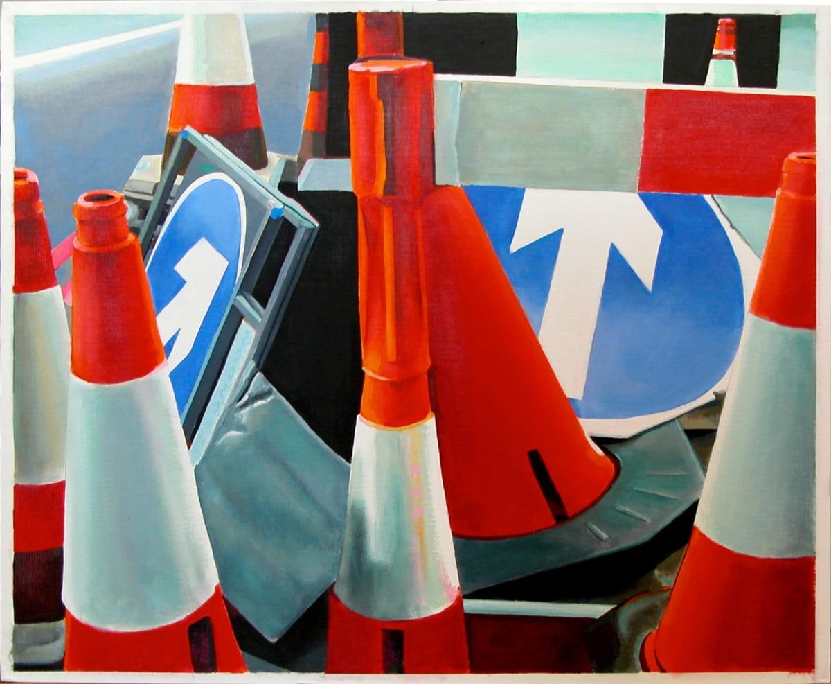 Cynthia Poole Roadworks IV Acrylic on canvas 51 x 61 cm