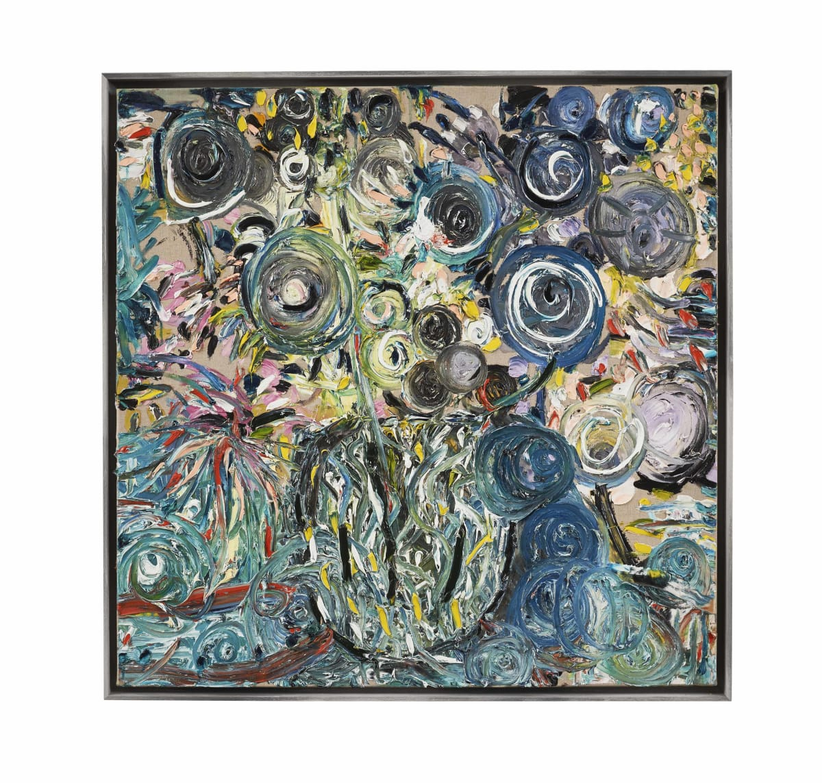 Maarten Vrolijk, Flowers in blue, 2017