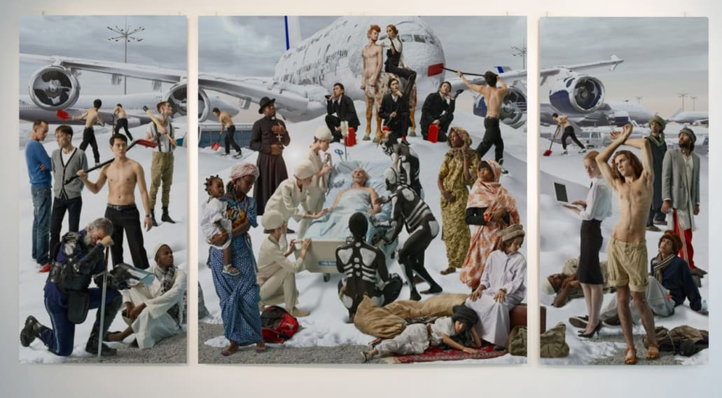 AES+F, Allegoria Sacra , Snow Elegy (triptych), 2013