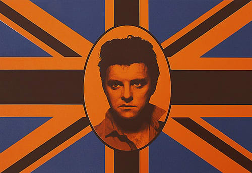 Gavin TURK, Elvis Union Brown on Orange, 2008