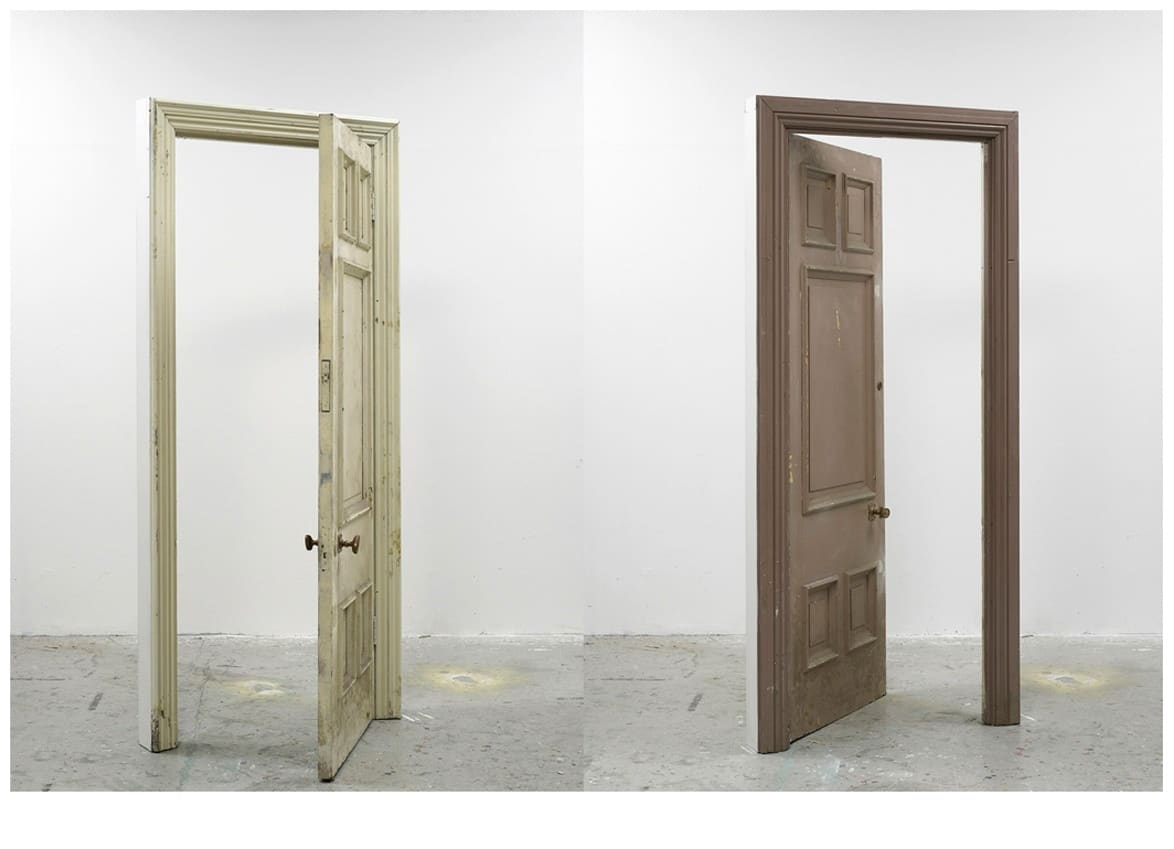 Gavin TURK, Ajar (taupe and cream), 2011