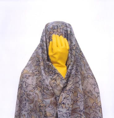 Shadi GHADIRIAN, Like everyday (domestic Life) #16 (yellow rubber glove), 2000