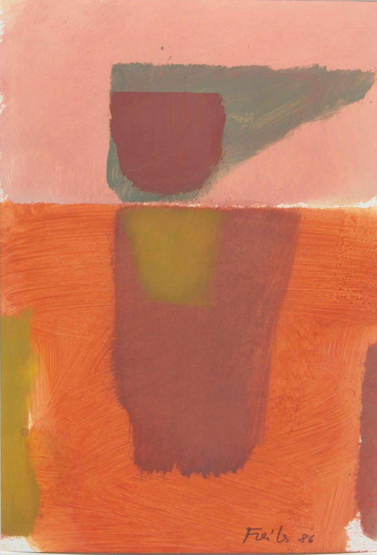 Antonio Freiles SENZA TITOLO, 1986 Oil on paper. 48 x 33 cm (18.9 x 13.0 in)