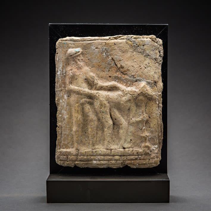 Babylonian Erotic Scene, 2100 BCE - 1500 BCE Terracotta 17 x 13.5 cm 6 3/4 x 5 1/4 in