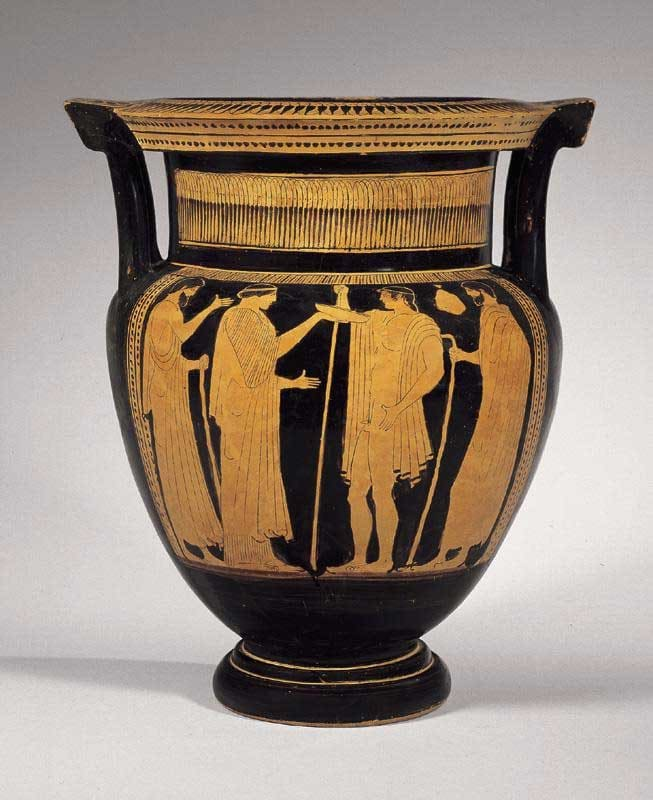 Attic Red-Figured Column Krater Attributed to the Boreas Painter, 460 BCE - 430 BCE