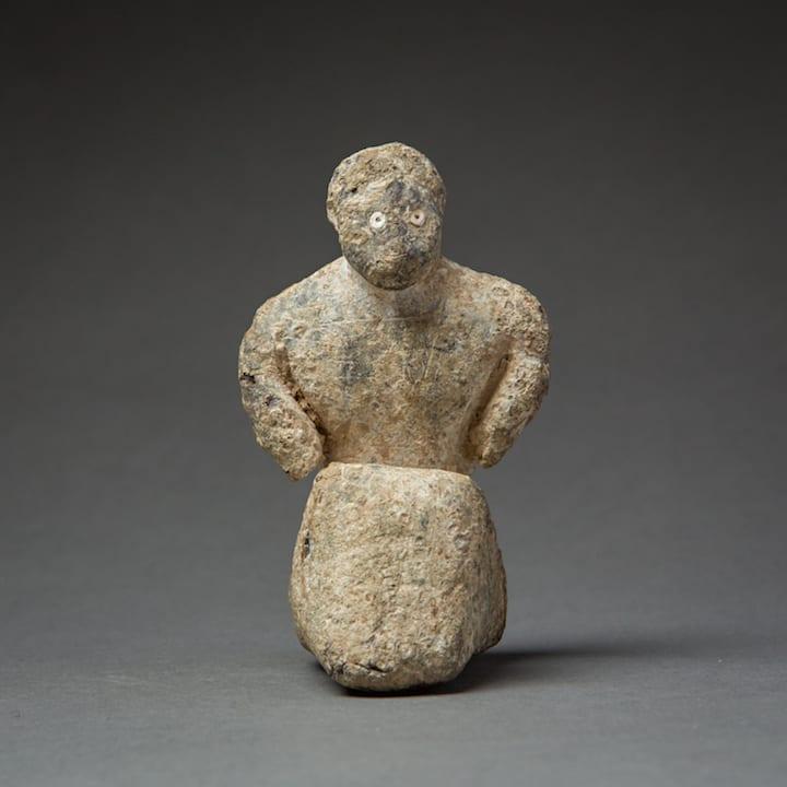 Bactria-Margiana Figure, 3000 BCE - 2000 BCE Lead 9 x 5 x 5 cm 3 1/2 x 2 x 2 in