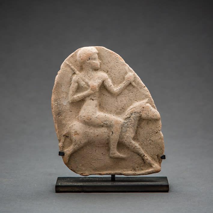 Babylonian Cavalier, 1900 BCE - 900 BCE Terracotta 10 x 8 cm 4 x 3 1/8 in