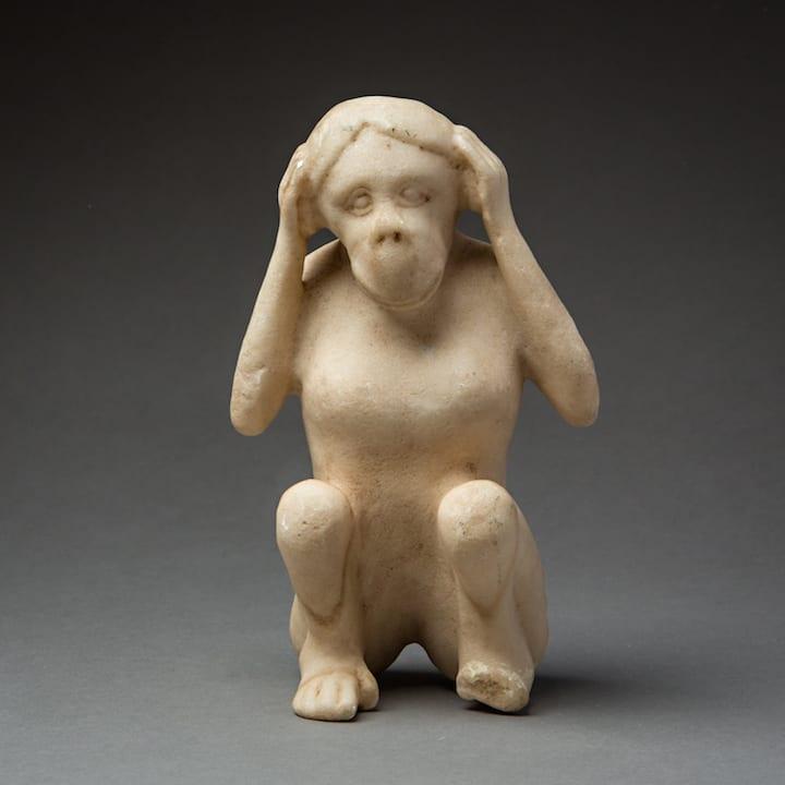 Elamite Crouching monkey, 2100 BCE - 1500 BCE Marble 19 x 12 cm 7 1/2 x 4 3/4 in