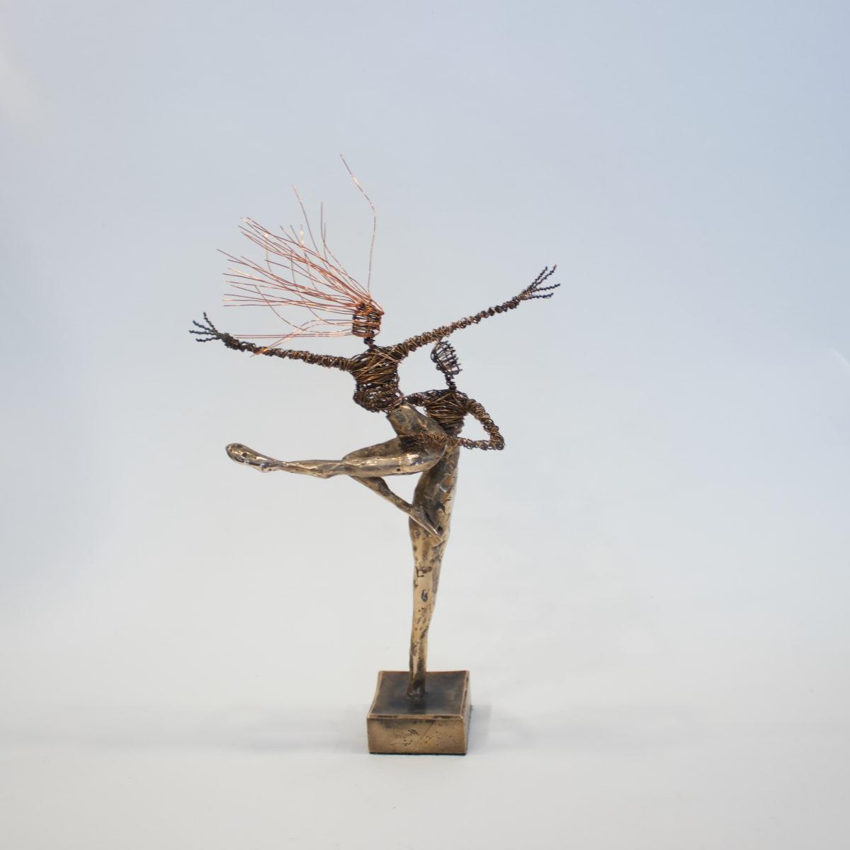 Rachel Ducker Bronze Couple, 2019 Bronze & Wire Sculpture 29 x 17 x 9 cm 11 3/8 x 6 3/4 x 3 1/2 in