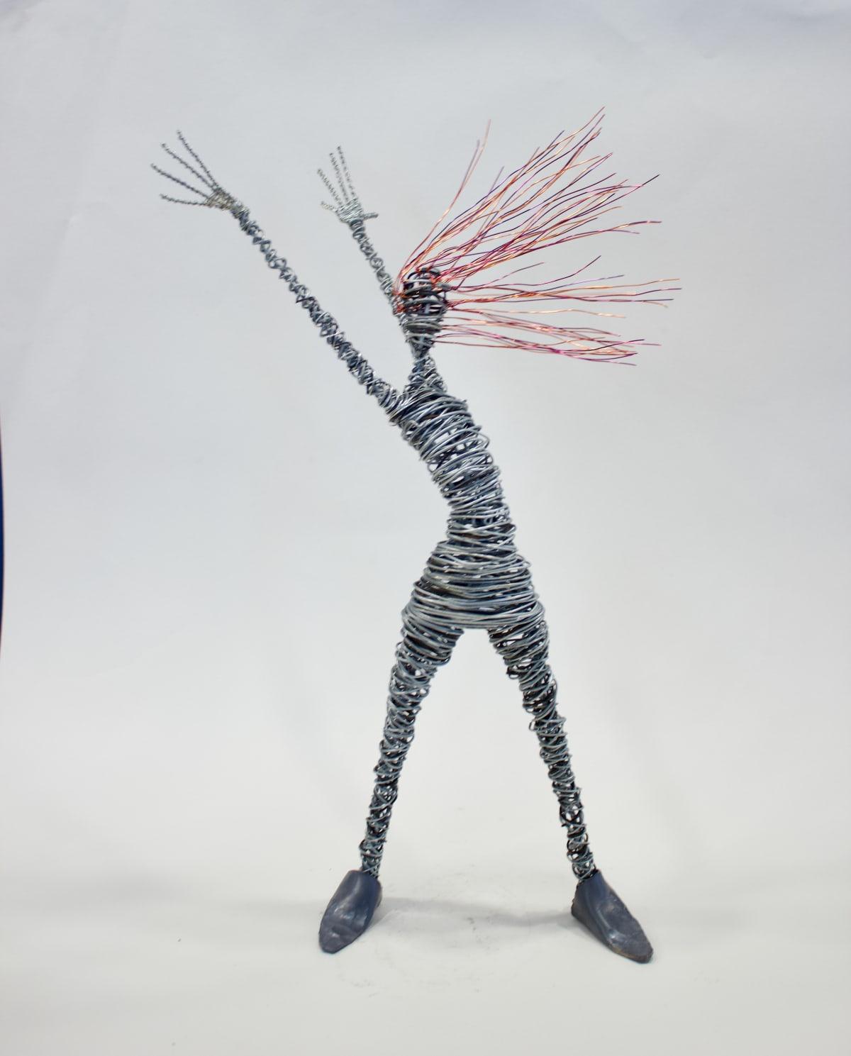 Rachel Ducker Arms Up, 2019 Wire Sculpture 45 x 26 x 16 cm 17 3/4 x 10 1/4 x 6 1/4 in