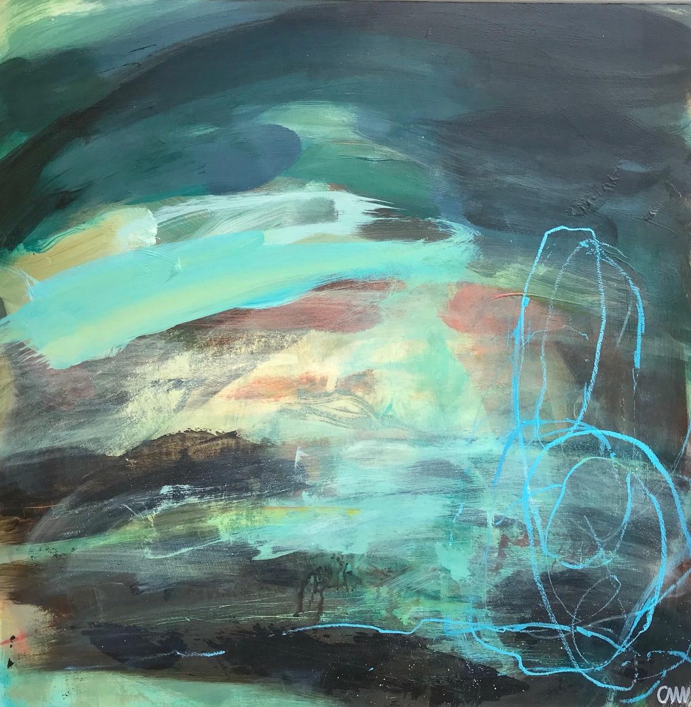 Clare Maria Wood Winter Seas III, 2019 Mixed Media Painting 60 x 60 x 5 cm 23 5/8 x 23 5/8 x 2 in