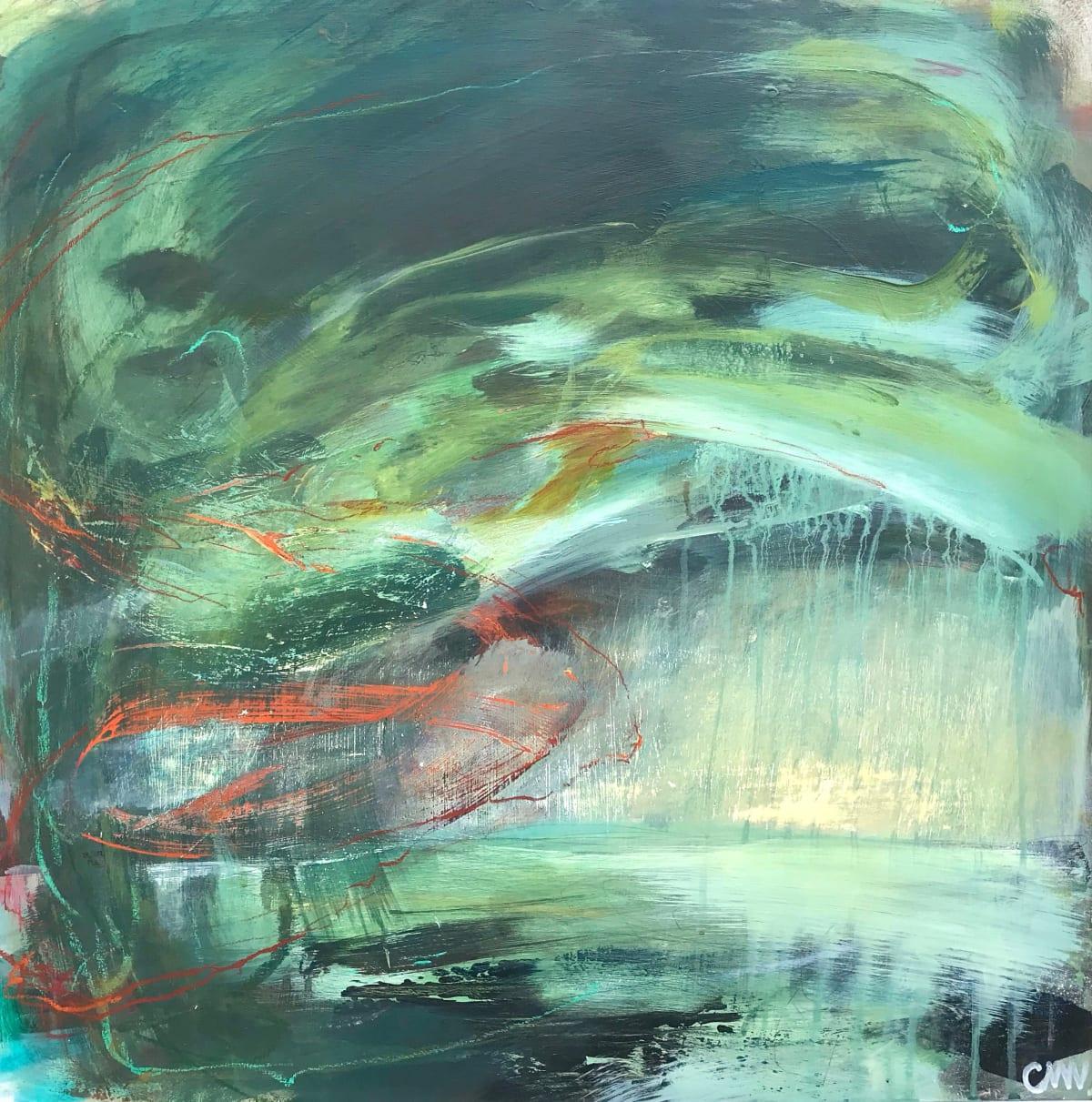 Clare Maria Wood Winter Seas II, 2019 Mixed Media Painting 60 x 60 x 5 cm 23 5/8 x 23 5/8 x 2 in