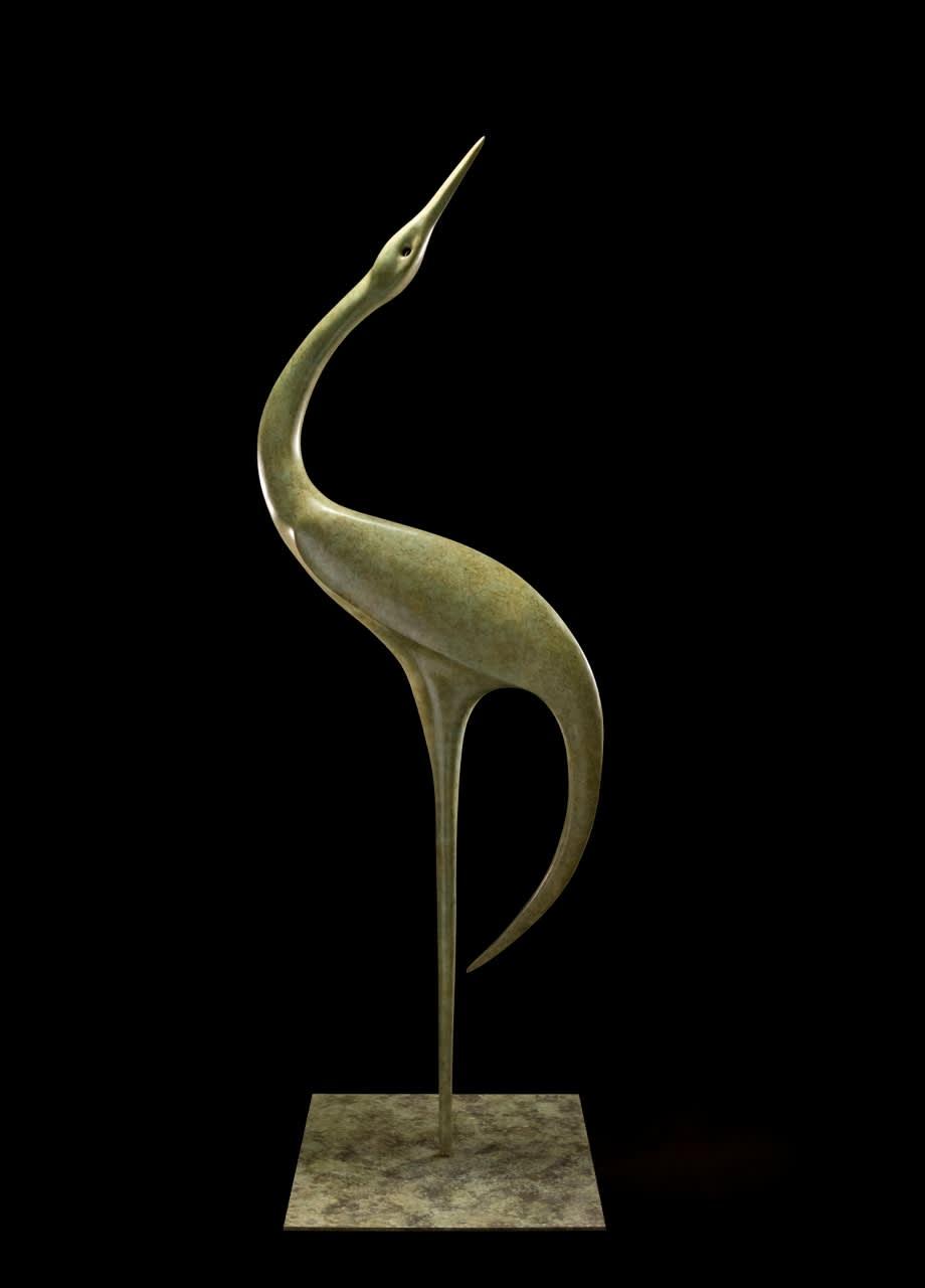 Simon Gudgeon Geranos, 2018 Bronze Sculpture 59 7/8 x 18 7/8 x 18 7/8 in 152 x 48 x 48 cm Edition 1 of 9