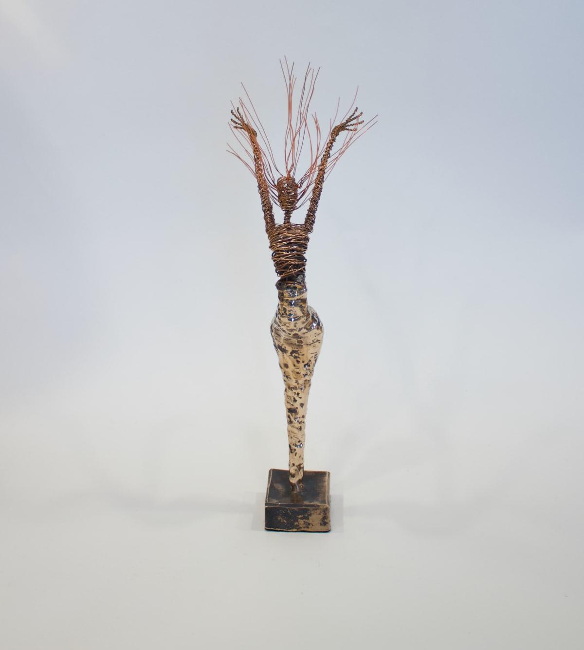 Rachel Ducker Bronze Arms Up, 2019 Bronze & Wire Sculpture 45 x 32 x 20 cm 17 3/4 x 12 5/8 x 7 7/8 in