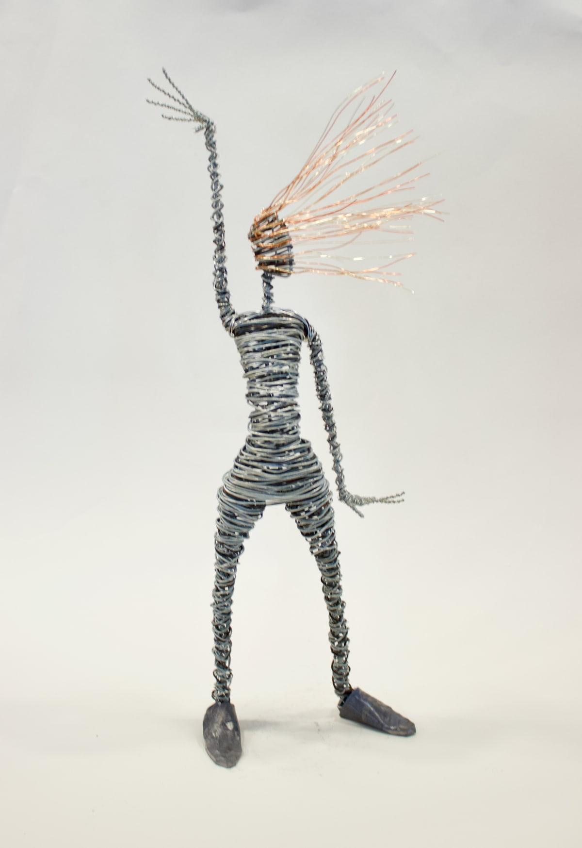 Rachel Ducker Arm Up, 2019 Wire Sculpture 45 x 20 x 10 cm 17 3/4 x 7 7/8 x 4 in