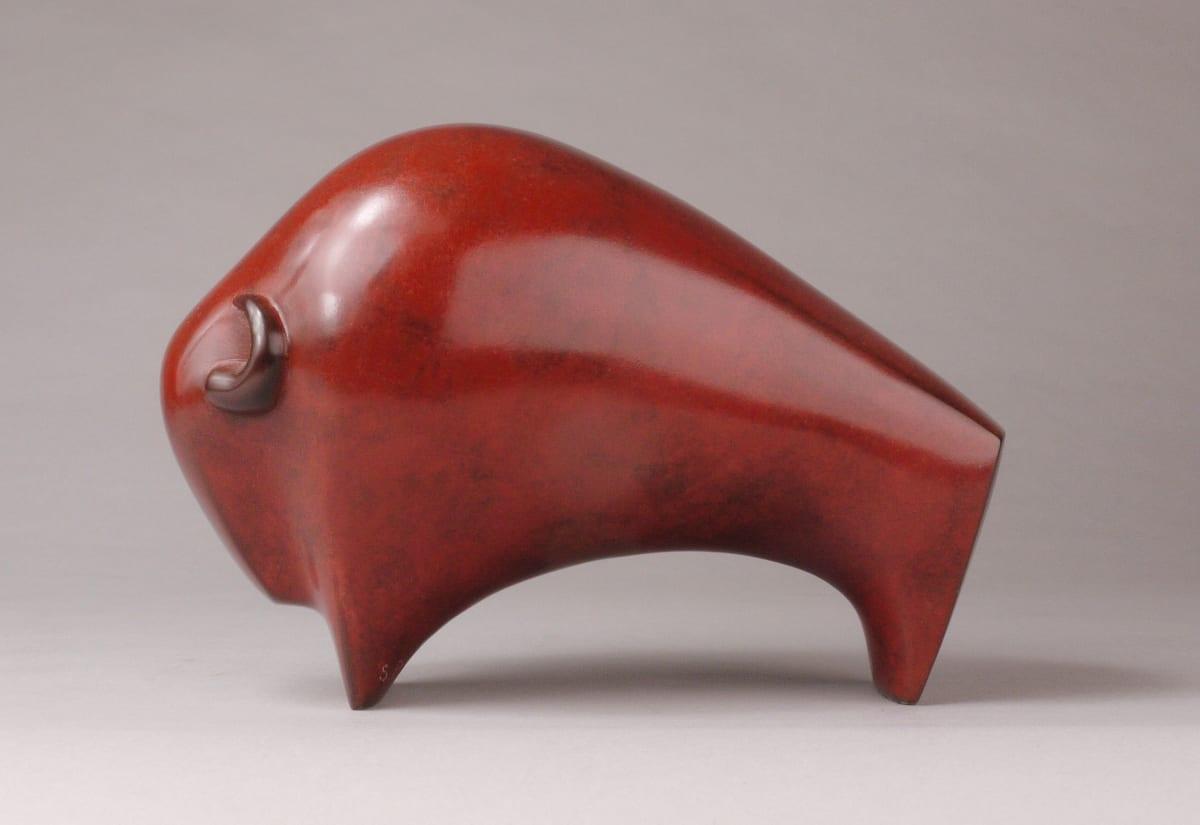 Stephen Page Bison, 2018 Bronze Sculpture 12 x 10 x 17 cm 4 3/4 x 4 x 6 3/4 in Edition 5 of 15