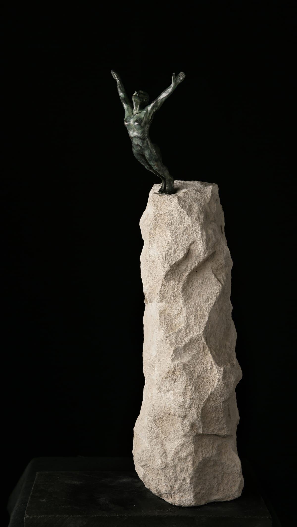 Brendon Murless Dive In, 2019 Bronze Sculpture 47 x 30 x 18 cm 18 1/2 x 11 3/4 x 7 1/8 in Edition 5 of 8