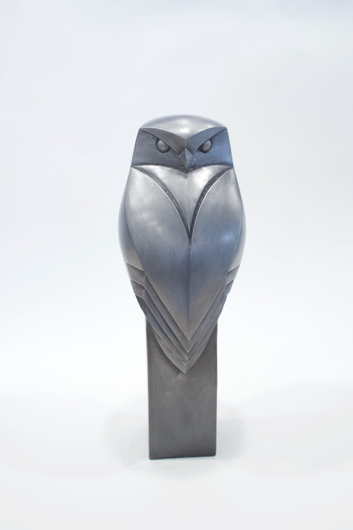 Paul Harvey Little Owl, 2019 Mixed Media Sculpture Cold Cast Pewter Resin 34 x 12 x 12 cm 13 3/8 x 4 3/4 x 4 3/4 in Open Edition